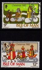 Isle of Man 1983 Christmas SG 257-8 CTO/FU