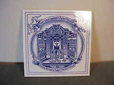 VINTAGE 1993 BURROUGHS WELLCOME BLU/WHT DELFT PHARMACY TILE MINIATURE PHARMACY