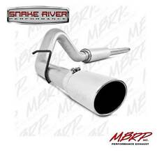 """MBRP 4"""" EXHAUST 1999-2004 FORD F250 F350 V10 CAT BACK SINGLE SIDE ALUMINIZED GAS"""