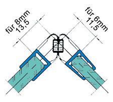Duschdichtungen, Duschabtrennung Trägerprofil  2500mm