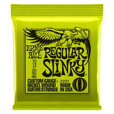 Ernie Ball Regular Slinky 2221 10-46 Nickel Wound Strings 12 Sets Pack USA