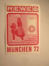 Rewe - Olympia München 1972 - Turnen - Stufenbarren / Streichholzetikett