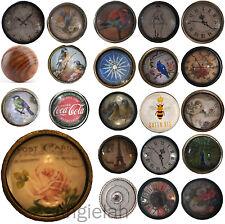 Glass & Metal Vintage Door Knobs Shabby Chic Mix Match Drawer Cupboard Handles