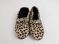 Charter Club Microvelour Memory Foam Slippers Leopard, 11-12 XL #7885