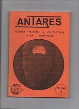 Antarès. Revue Fanzine de science-fiction et fantastique. Volume 3. vers 1981