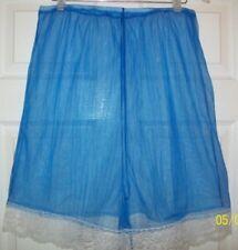 "ROYAL BLUE SHEER NYLON LACY BOXERS Sleep Shorts INSEAM 4"" * HIGH WAIST 32 - 52"""