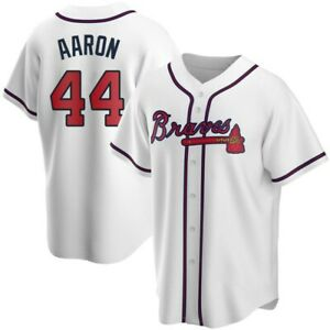 Fanmade Hank Aaron Men's Atlanta Braves White Baseball Jersey