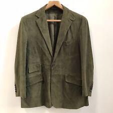 Polo Ralph Lauren Suede Blazer Sport Jacket Olive Green L
