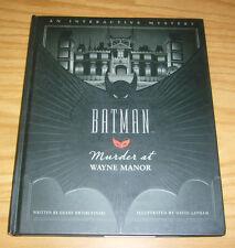 Batman: Murder at Wayne Manor HC VF/NM an interactive mystery - hardcover book