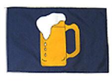"12x18 12""x18"" Beer Mug Drinking Blue Sleeve Flag Boat Car Garden"