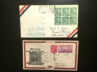 1947-1948-Illinois-Wisconsin First Flight Airmail Covers  -VG/Fine-Free Shipping