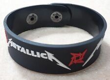 NEW METALLICA RUBBER BRACELET WRISTBAND UNISEX WOMEN WHITE SOUVENIRS DAY WB59
