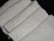 5 très jolies serviettes ancienne damassées monogrammées jours CD ref CD5