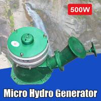 110V Micro Hydro Water Turbine Electric Generator Hydroelectric Power 500W US
