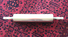"""Large Vintage Moline Metal Wooden Rolling Pin Dough Roller Cookies 16 3/4"""" BH3"""