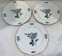 Roses Royal Bayreuth Germany US Zone Set of 3 Bread and Butter Plates Excellent