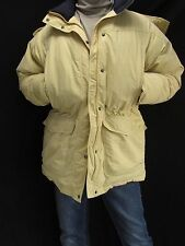 L.L. Bean Yellow Down filled Parka Puffy Coat Hood Down Filled Women's Large T6