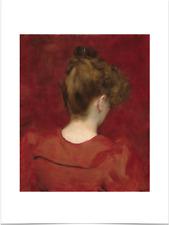 CAROLUS DURAN LILIA STUDY BIG BORDERS LIMITED EDITION ART PRINT 18X24 red woman