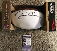 Jim Brown Cleveland Browns Signed Wilson NFL Football JSA Greatest RB All Time