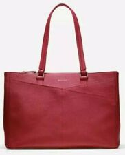 NEW Cole Haan Large Red Saffiano Leather Travel Tote Bag