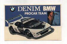 Adesivo BMW ITALIA PROCAR TEAM - Rally 1980 sticker DENIM sponsor Autocollant