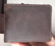 Men's Vintage Handcrafted Genuine Leather Wallet Brown Short Bifold Money Card