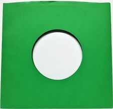 "1000 Green Paper Sleeves for 7"" 45rpm Vinyl Records"