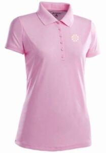 NWT Boston Bruins Womens Pique Xtra Lite Polo Shirt by Antigua Pink Small