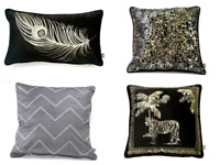 Modern Laurence Llewelyn-Bowen Animal Feather Pattern Polyester Filled Cushions