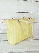 Coach Legacy Weekend  Stripe Yellow  Zip Top Tote 23108