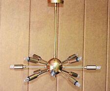 Detail Classic Mid Century Modern Antique Brass Sputnik atomic chandelier star