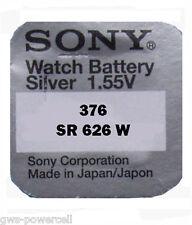 3 x Sony 376 batería pila de botón relojes batería 1,55v sr626w sr626sw