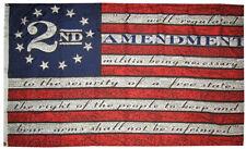 3x5 Betsy Ross Second 2nd Amendment USA 13 Star 100D Poly Nylon Flag NRA Banner
