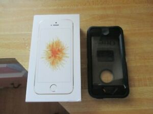 Apple iPhone SE 1st Gen. ~ 64 GB ~ Gold (Verizon Unlocked) Model A1662 Otter Box