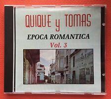 Quique Y Tomas Epoca Romantica V3 CD CANAL 1991 Puerto Rico