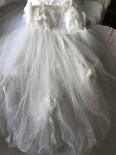 Altes Weißes Ballettdress mit Tutu Ballettkleid Balletttrikot & Tüllrock 5-lagig