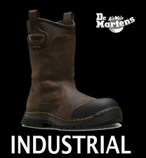 "DR MARTENS COMPOSITE TOE ""RUSH"" LEATHER WATERPROOF WORK BOOTS BROWN R21808203 13"