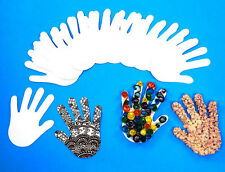 Paper Hand Shapes X100 // for use in Arts & Crafts