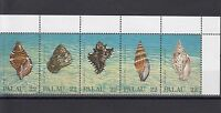 TIMBRE STAMP  5  ILE PALAU Y&T#174-78 COQUILLAGE SHELL NEUF**/MNH-MINT 1987 ~A34