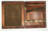 Set of 2 Antique Arts & Crafts Wood Picture Frames Box Joint Dovetail 8.5x10.5""