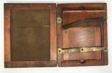 """Set of 2 Antique Arts & Crafts Wood Picture Frames Box Joint Dovetail 8.5x10.5"""""""