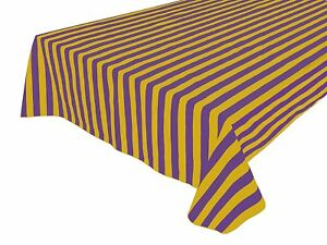 lovemyfabric Cotton 1 Inch Striped Tablecloth for Special Events/Weddings/Dinner