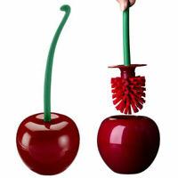 Red Cherry Shape Toilet Brush Holder Set Lavatory Brush Bathroom Accessories HOT