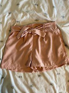 New Look Tie Front Pink Shorts 16 / 14