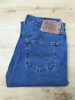 Men's Levi's 501 Classic Straight Leg Blue Jeans W31 L34 (#A843)