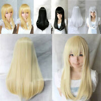 Women's 60cm Long Straight Cosplay Anime Fashion Wigs Heat Resistant Wig Hair