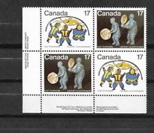 pk37491:Stamps-Canada #837ii Inuit 17 cent Blue Scratch Variety on LL PB - MNH