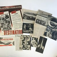 Vintage Movie Destination Moon 1950 Magazine Clippings Lot Trade Ad Photos