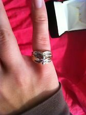 10K Yellow Gold Diamond ring wedding engagement 27 diamonds size 5.5 .10 carat