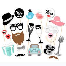22Pcs/Set Single Lady Theme Funny Paper Beard Photo Booth Props Creative